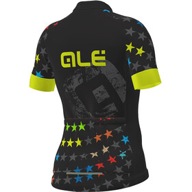 Alé Cycling Stelle Kortærmet cykeltrøje Børn gul/sort